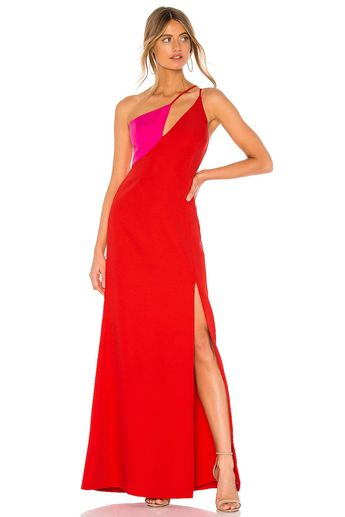 Cut Out Colorblock Gown