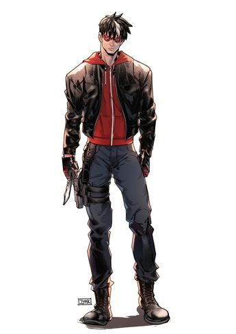 """kaimaciel: """" Commission by the awesome @jjmk-jjmk! Casual Red Hood is still a badass! Please do not repost without permission. """""""