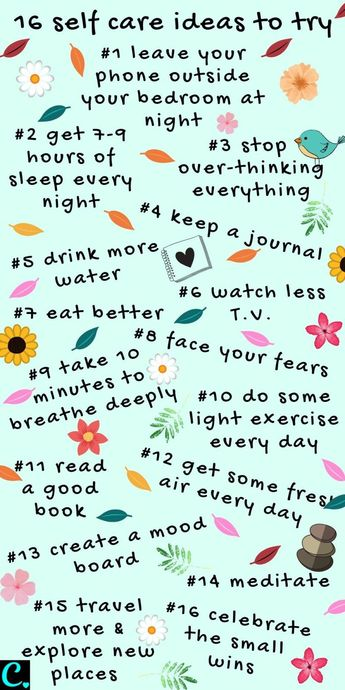 16 Self-Care Ideas To Start Right Now Infographic... #infographic #selfcare #selfcaretips #personaldevelopment #captivatingcrazy