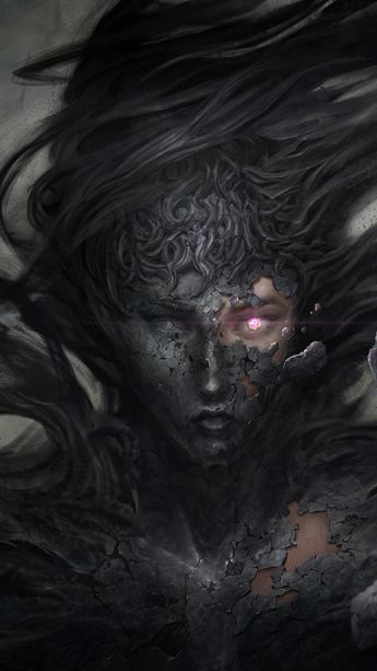 Dark demon fantasy witch 5k, 720x1280 wallpaper