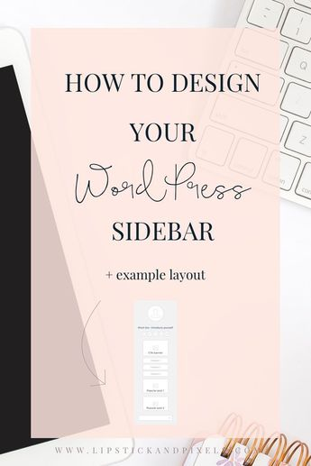 How to design your WordPress sidebar
