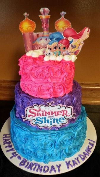 Shimmer And Shine Birthday Cake Ideas