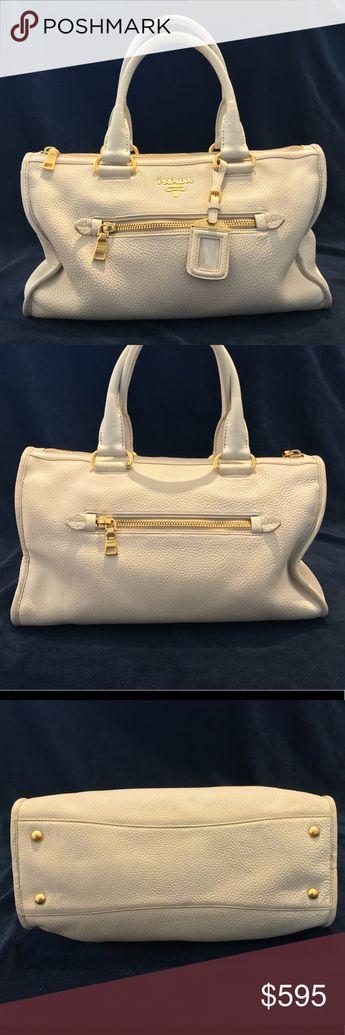 0b9e8203ea5 Prada Vitelli Daino handbag Authentic. Lining and handles were replaced at  a Prada store in