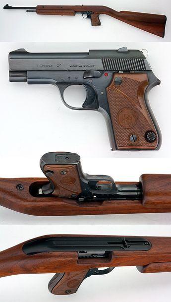 UNIQUE MODEL L SEMIAUTO PISTOL - CARBINE COMBO GUN .22 LR VERY RARE! - Picture 2