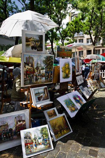 Paintings at Place du Tertre, Montmartre, Paris