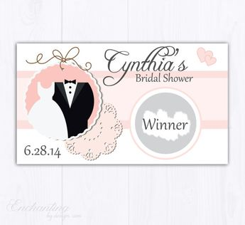 blush pink bridal shower scratch off cards bridal shower game bachelorette party game