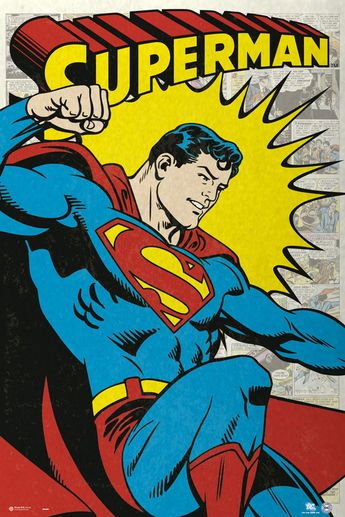 Superman - Comic Poster. SUPERMAN