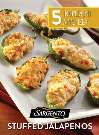 One thing we all look forward to at any Thanksgiving dinner or fall holiday potluck is the finger food. So, when you're hosting for the holidays, have a go-to appetizer to hold guest's hunger at bay, like these Pepper Jack Cheese stuffed jalapenos. YUM! Get the full recipe on Sargento.com.