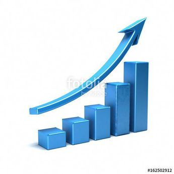 """Business Growth Bar Graph Curve. 3D Render Illustration"" Stock photo and royalty-free images on Fotolia.com - Pic 162502912"