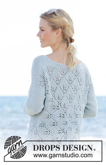 e8130c213073 The Pearl   DROPS 186-31 - Knitted jumper with lace patter