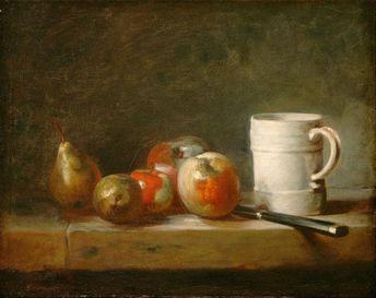 "Jean Simeon Chardin : ""Still Life with a White Mug"" (c. 1764) - Giclee Fine Art Print"