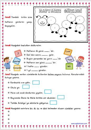 1. Sınıflar için okuma anlama çalışmaları Çiğdem Öğretmen
