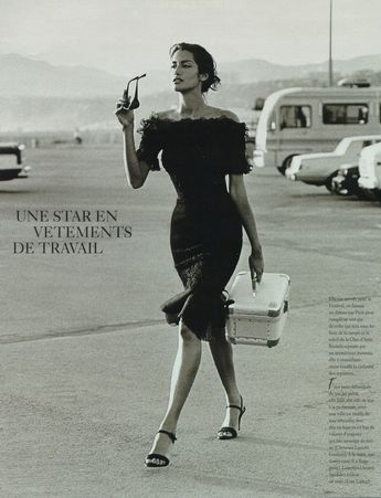 Yasmeen Ghauri by Jacques Olivar, 1995