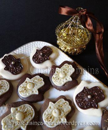 Sablés Khamssa au chocolat