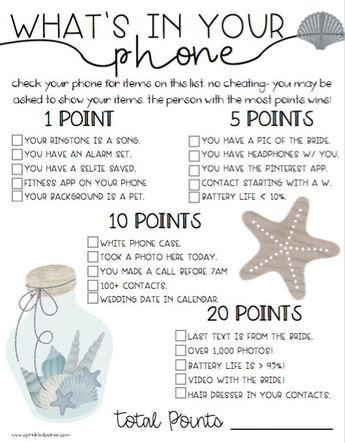 beach theme bridal shower game updated version of