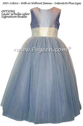 9c5998020b8 Lavender Tulle Flower Girl Dress with PEGEEN signature Bustle