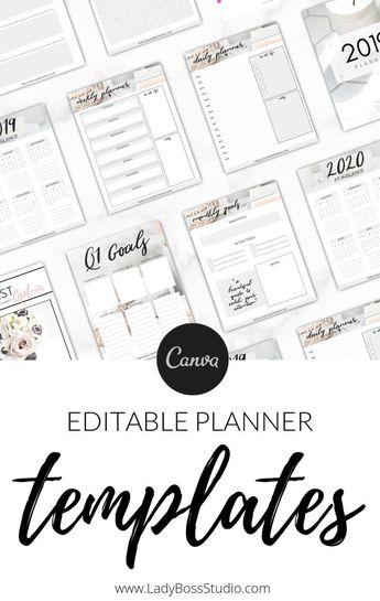 Nurtured Life Planner Templates for Canva - 2019/2020 | Lady Boss Studio