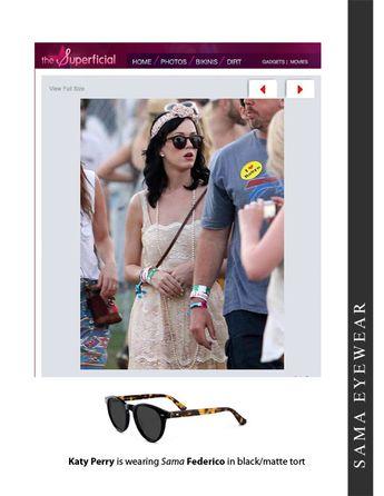 efab383412f7 Katy Perry is wearing Sama Eyewear