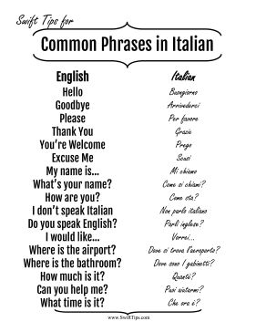 A screenshot from our italian language guide iphone language.