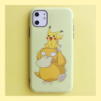 Cute Pikachu Phone Case for iphone 7/7plus/8/8plus/X/XS/XS Max/11/11pro/11pro Max PN2239