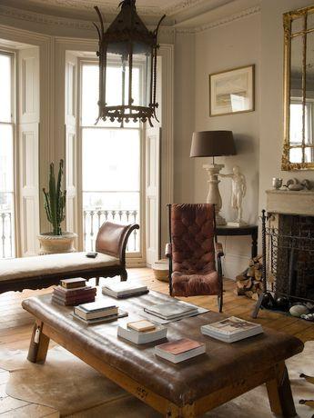 Alex MacArthur {eclectic vintage baroque modern living room}