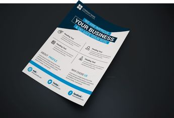 Oregon Creative Business Flyer Design Template - Graphic Templates