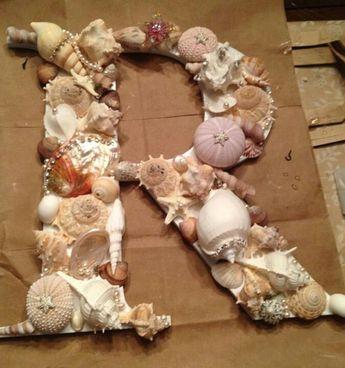 childs initial for mermaid/under the sea room. #DecoratingIdeasForKidsRoomschildsbedroom