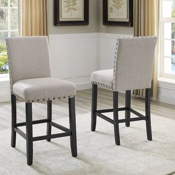 Outstanding Roundhill Furniture Biony Counter Height Stools Set Of 2 Onthecornerstone Fun Painted Chair Ideas Images Onthecornerstoneorg