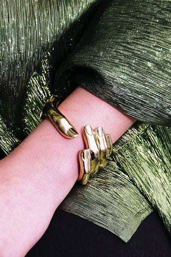 Bronze Hand Cuff Bracelet