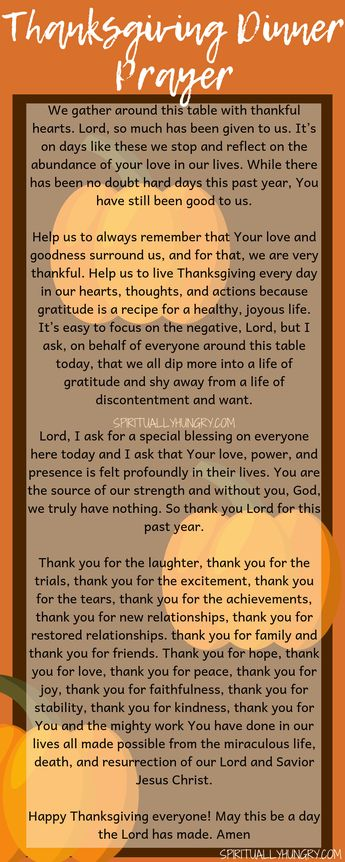 A Thanksgiving Prayer With Free Printable