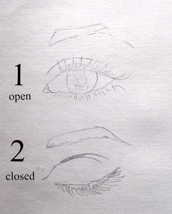 #surelysimpleblog eye drawing video ~ open and closed eyes