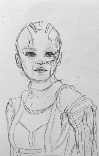 Okay so I'm obsessed with avengers endgame so i drew one of my little babies, Nebula. Do you guys want more of marvel characters? #freetoedit #kpopfanart #kpop #art #drawing #myart #mydrawing #fanart #avengers #endgame #nebula #guardiansofthegalaxy #Marvel