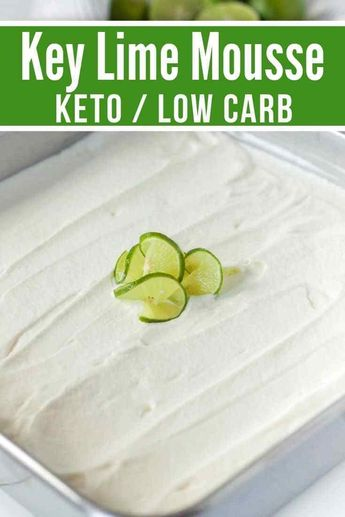 Creamy, refreshing, and delicious this Key Lime Keto Mousse is the perfect low carb dessert. It is super easy to make and it tastes amazing. / keto dessert recipes / low carb desserts / keto diet foods / #keto #lowcarb