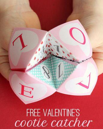 Free Valentines Cootie Catcher