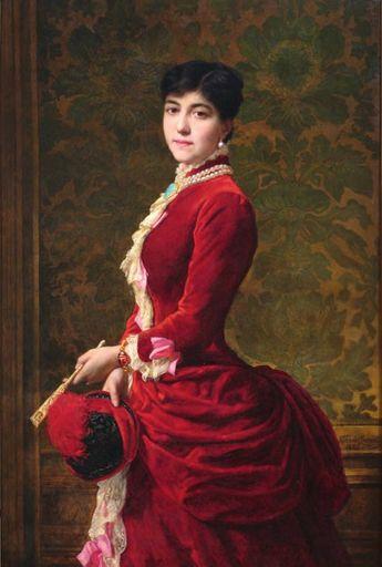 Emile Charles Hippolyte Vernet-Lecomte (1821-1900) Portrait of an elegant lady