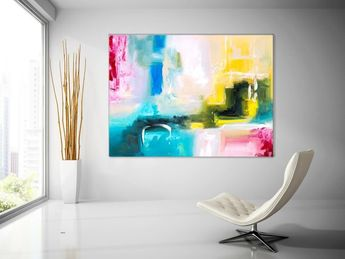 Large Abstract Painting Original Canvas Art Contemporary Wall Modern Artwork Office