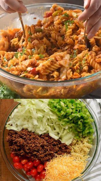 Taco Nudelsalat  food and wine recipes - Recipes #Nudelsalat #Taco #Recipes