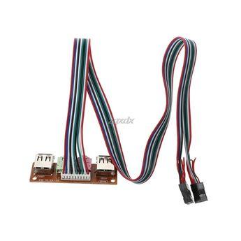 2-Port USB 2.0 Computer Case Front Panel Audio Jacks Port Mic Earphone Cable Drop ship Review