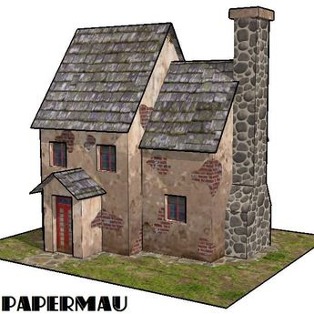 As I announced earlier this week , here's the paper model of the WW2`s Style House Somewhere In Europe, ready for download.   The model occ...
