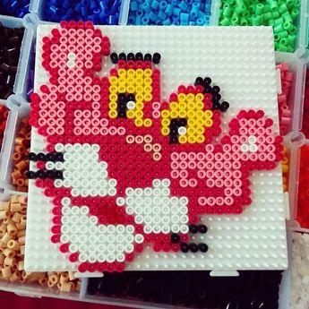Pink Panther hama perler beads by anikkav