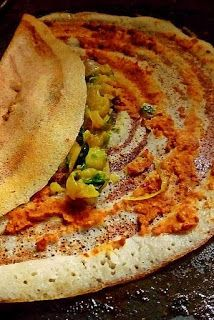 Your Everyday Cook: MYSORE MASALA DOSA WITH BARNYARD MILLETS ( SAMVAT CHAWAL)