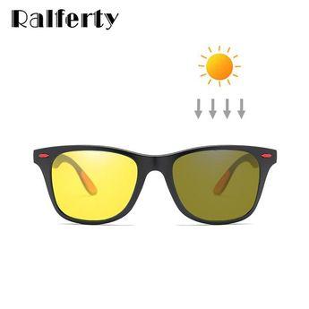4c2edf7c41c Ralferty Polarized Photochromic Sunglasses Men Women Yellow Brown Night  Vision Glasses Driving Male Chameleon K1052