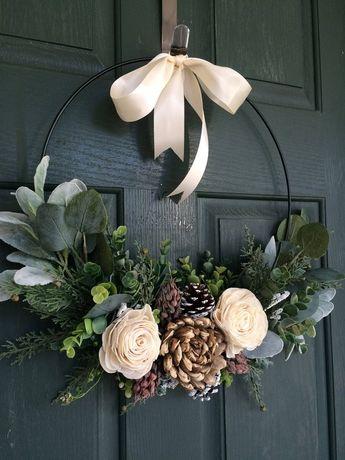 Christmas wreath wreath for christmas christmas decor hoop   Etsy