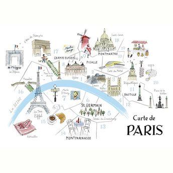Alice Tait 'Map of Paris' Print - Alice Tait Shop