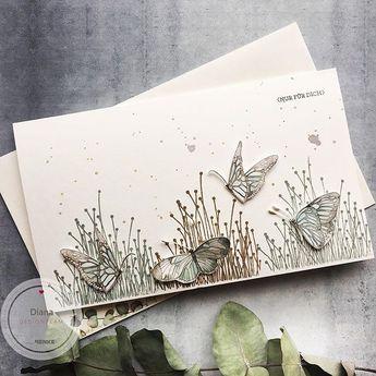 """papierZART & more on Instagram: """"Nur für dich 🦋 • • [werbung] #nur für dich  #frühlingskarte #frühling #springtime #butterflies #schmetterlinge #papercrafting #cardmaking…"""""""