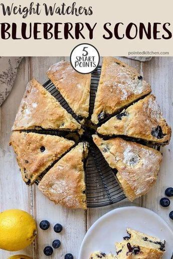 These easy & delicious Blueberry & Lemon Scones are 5 SmartPoints per serving on Weight Watchers Freestyle & Flex plans. A tasty Low smartpoint treat to bake whilst following the WW plan. Packed full of sweet blueberries these sweet scones will satisfy any cake cravings! #weightwatchers #weightwatchersrecipes #weightwatchersrecipeswithpoints #weightwatcherstreatrecipes #weightwatchersdessertrecipes #wwrecipes #wwdessertrecipes #smartpoints #healthyrecipes #wwfamilyrecipes #sconerecipe #wwrecipes