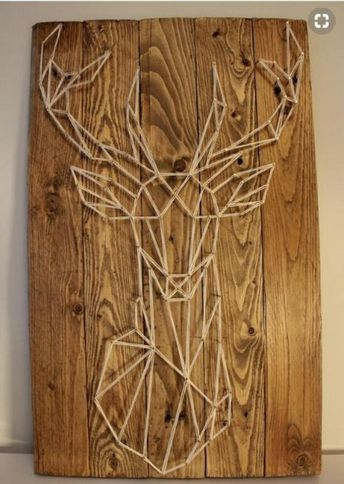Take a look at these 12 very inspiring String Art models - Decoration - Tips and Crafts