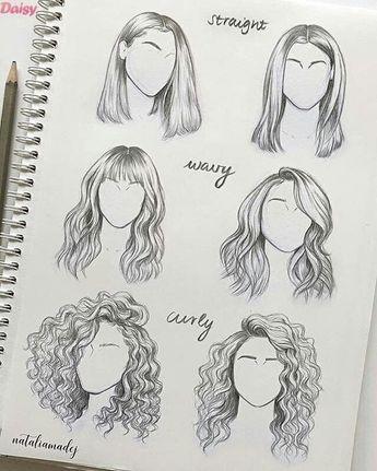 Plus de 30 superbes idées de dessin de cheveux et d'inspiration