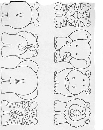 Printable exercises for kids Complete the drawings 44