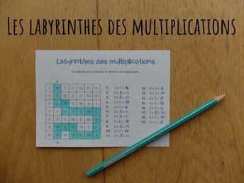 Après mûres réflexions et quelques prises de tête sur la mise en page, voici mes labyrinthes des multiplications !  Pour les découvrir, c'est ici. ⤵